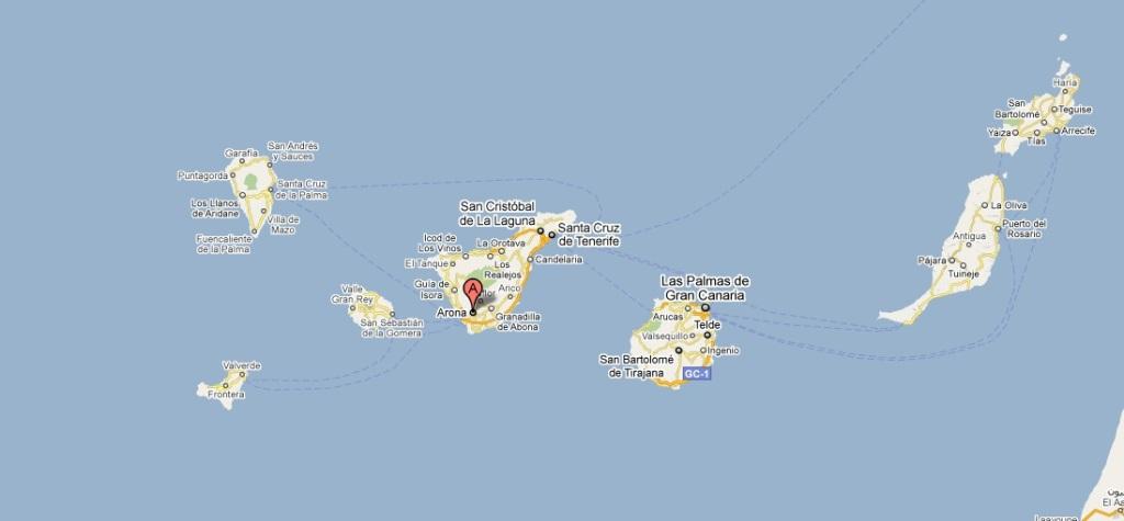 Tenerife Cartina Stradale.Mappa Tenerife Sud
